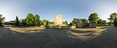 Castle ruin (Teppycmon) Tags: panorama castle sony ruin sunny fisheye spherical 360 samyang a580