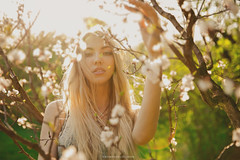 sunlight (viktoriyalunchenkova) Tags: morning sun girl beautiful sunshine russia moscow sakura freshness