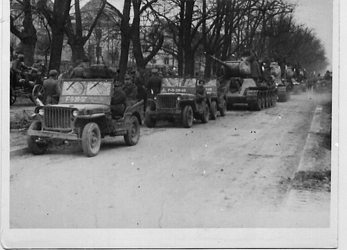 Convoy before Gdansk, Dad in 2nd Jeep