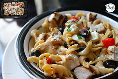 Garlic Chicken Pasta Bowl w/Feta Cheese (Chefs_Diet) Tags: food chicken cheese lunch meals pasta gourmet foodies foodporn garlic delivery diet weightloss weight feta foodie nutrition dieting foodphotography diets foodstyling chefsdiet containertoplate
