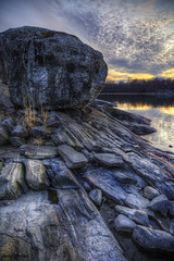 Brnd sunset (penttja) Tags: ocean travel sunset sea nature rock iceage canon finland landscape rocks colorful shore brando meri hdr aland land brnd ahvenanmaa saaristo saaristomeri siirtolohkare