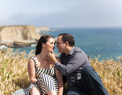Chris and Mara (ineedabettername) Tags: cliff beach couple davenport engaged engagementsession somuchlove