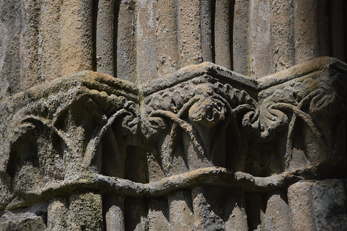Decorations on Stone at Valle Crucis Abbey