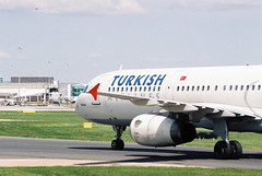 Turkish Airlines Airbus A321 (Ross_Harding) Tags: film manchester airport nikon fuji airbus airlines turkish fg c200 a231