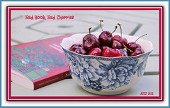 Red Book, Red Cherries (bigbrowneyez) Tags: stilllife food art beautiful fruit book juicy cherries sweet fresh deck presentation charming relaxation mygarden artful tasteful tangy bello bellissimo redcherries redbookredcherries