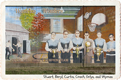 SMALL TOWN CHAMPS (NC Cigany) Tags: ohio color sports basketball wall vintage mural flood champs waterloo oh hoops rivertown champions highscool ironton