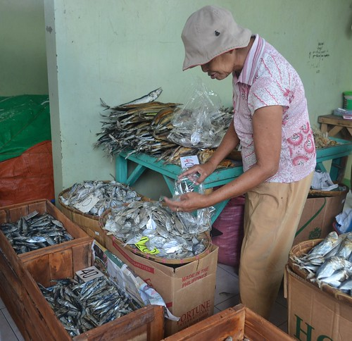 Dried fish market in Central, Dipolog City, Philippines. Photo by Sarah Esguerra, 2013.