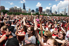 Crowd at the June 28, 2013, Rally for the Stanley Cup Champion Chicago Blackhawks -- Grant Park Chicago (IL)