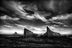 Lindisfarne boats (paulsflicker) Tags: uk november england bw white david black slr composition digital landscape boats paul island landscapes october competition holy land lindisfarne mag byrne landscap bullen septembet 2013 lpoty httpswwwfacebookcompaulbullenlandscapephotography