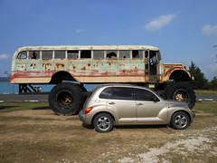 Monster Truck Bus (neondeception) Tags: bus monster truck ptcruiser dodge chrysler pt cruiser