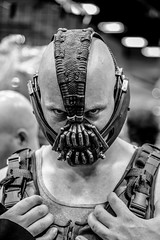 Brooding Bane (Bartfett) Tags: white black tom dark costume eyes san comic mask cosplay nolan christopher diego center international convention batman knight comiccon bane con rises hardy sdcc 2013