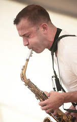 Packing A Punch (peterkelly) Tags: musician music playing ontario canada digital guelph performance blowing player cheeks northamerica hillside performer sax saxophone hillsidefestival guelphlakeconservationarea 2013 colinstetson