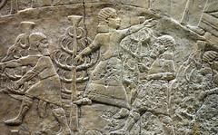 Lion Hunts of Ashurbanipal, female (?) figure, top of the hill (profzucker) Tags: sculpture london art ancient iraq lion palace relief beginning britishmuseum gypsum tigris mosul hunt assyrian excavated ashurbanipal neoassyrian ninevah rassam 645bce