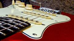 My new guitar (blokkadeleider) Tags: red classic apple electric 60s candy guitar strat stratocaster gitarre squier vibe gitaar elektrische elektrischer