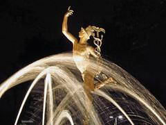 Mercurio (booxmiis) Tags: park parque water fountain statue mxico mexico lights luces agua mexicocity df nightshot fuente alameda estatua mercurio alamedacentral ciudaddemxico booxmiis