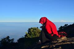 Jelajah Bumi Allah (JBA) (qefy) Tags: hiking hijab muslimah gunung awan sahabat kuningan langit pita agustus mendaki bendera persahabatan liburan semangat merahputih jawabarat renungan ciremai kebersamaan pegunungan flowerofislam muncak gunungciremai puncakgunungciremai gunganpita pendakiangunungciremai