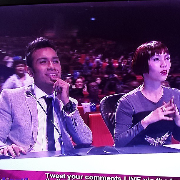 2 of the 3 judges of the Final 1. Taufik Batisah & Kit Chan.