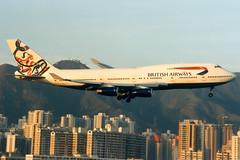 British Airways | Boeing 747-400 | G-BNLG | Whale Rider | Hong Kong Kai Tak (Dennis HKG) Tags: plane airplane hongkong airport aircraft ba boeing britishairways boeing747 hkg 747 747400 kaitak baw planespotting oneworld boeing747400 whalerider speedbird vhhh gbnlg vhhx
