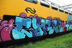 graffiti (wojofoto) Tags: streetart amsterdam train graffiti trein traingraffiti wojofoto treingraffiti