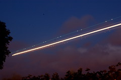 """Aeroplane Light Trails 3"" (Lewis Adams Photography) Tags: longexposure light red sky white green night plane photography nikon long exposure d70 nikond70 d70s trails nikond70s aeroplane planes airbus a380 lighttrails af nikkor 747 2013 afnikkor dibaday"