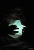 Mi estrellita (Víctor Onieva) Tags: luz azul juegos jugar silueta juego estrella lámpara ariadna estrellita insinuar mygearandme flickrstruereflection1