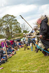 [2014-04-19@15.32.44c] (Untempered Photography) Tags: history costume crowd helmet battle medieval weapon sword knight spectators mop armour reenactment combatant spear canonef50mmf14 perioddress polearm platearmour gambeson poleweapon untemperedeye canoneos5dmkiii untemperedeyephotography glastonburymedievalfayre2014
