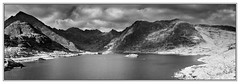 Loch Coruisk Panorama Mono (3,6,9 Seconds of light) Tags: sky blackandwhite panorama lake mountains skye water monochrome clouds canon mono scotland isleofskye stitch pano scottish panoramic 5d canon5d loch cuillins stitched hebrides munros munro cuillin stitcher mistyisle highlandsandislands lochcoruisk scottishscenery mountainsandclouds scotlandscenery