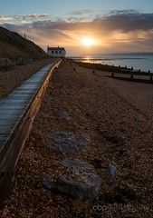 Watch House, Lepe (chrisbutton68) Tags: sunset sea portrait vertical sunrise dawn landscapes outdoor tide shingle scenic erosion shore solent boardwalk protection groyne smuggler longshoredrift watchhouse lepebeach lepecountrypark