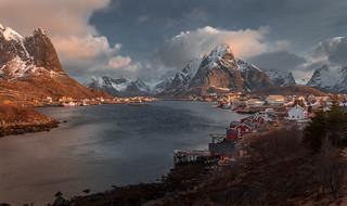 Reine, Morning Light  漁港,晨光