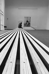 SMAK (jeroen_deruysscher) Tags: people bw white black art museum bench blackwhite gallery sit wait ghent smak