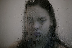 The Hollow (Mild W. Chawalitanon) Tags: portrait selfportrait wet water glass girl photoshop self photography emotion photograph hollow edit