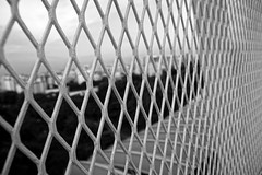 The other side (Eracross) Tags: blackandwhite wall blackwhite stuck empty behind feeling limit imprison