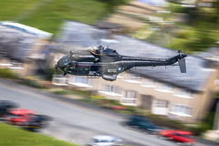RAF Puma HC.2 Black Peter (benstaceyphotography) Tags: houses motion black wales speed plane airplane movement force terrace aircraft aviation air royal helicopter peter valley puma raf lowlevel hc2 rotors