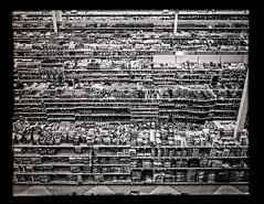 Fred Meyer 150532 (jimhairphoto) Tags: camera blackandwhite blancoynegro film oregon america portland stjohns 4x5 hp5 pdx ilford naturalworld graflex blancinegre remainsoftheday blancetnoir bluemooncamera portlandnw jimhairphoto schwarzeaufweis siyahrebeyaz andmachine 4x5project mfgabout1963