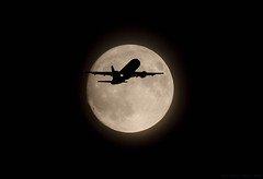 Supermoon Silhouette 2016 (ian._harris) Tags: nikon tamron150600 moon aircraft november supermoon 2016 silhouette bbc d5300