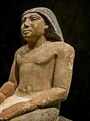 Closeup of Funerary Chapel Sculpture of Nefu Inspector of the Treasury from Giza, Egypt Old Kingdom 5th Dynasty 2445-2345 BCE Limestone (mharrsch) Tags: sculpture statue official inspectorofthetreasury seated kilt oldkingdom egypt giza 5thdynasty 25thcenturybce 24thcenturybce nelsonatkins museum kansascity missouri mharrsch