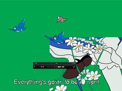 chroma_key_green#2_everything's_going_to_be_all_right (rita_voloh) Tags: ritavoloh voloh volohrita draw pic mypic pluralia hope greenkey allright everything disney avi dvd film screen screenprint silckscreen print green alice snowwight characte digital ph illustration illustrator surr birdie subtitles eng vlc lag foot justdrawingsnothingpersonal
