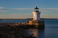Bug Light (Bob90901) Tags: buglight portlandbreakwaterlight southportland maine lighthouse rpg90901 sea harbor shore water 2016 september 1807 longexposure lee superstopper nd15 neutraldensity filter canon 6d canonef70200mmf28lisiiusm canon70200f28lll sky clouds goldenhour vle