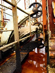 IMG_0105e (Gravenor2012) Tags: victorian engineering gas holder tar sludge oilsblackburn wheels iron ironwork gasworks