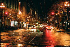 City Nights 2016 08 (marq4porsche) Tags: canon eos 3 ef 50mm 12 l kodak portra 400 film analog street urban light evening san francisco downtown california us