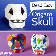Origami Skull / Calavera de Papel (origami.plus) Tags: origami skull origamiskull calavera calaveras paper papel art