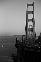 Golden Gate Bridge (silvia.mincarelli1) Tags: blackandwhite california bridge goldengate sanfrancisco