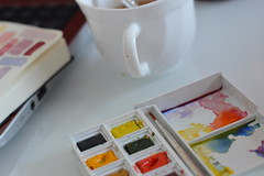 (Ready to Upload) (Dani Surname) Tags: shallow depth field dof soft paint watercolour colourful colour white pastel light bright cup mug painting art