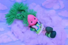 color kids (Vuffy VonHoof) Tags: rainbow bright brite cute doll dolls toy toys vintage retro 80s 70s neon pastel vibrant fun funky childhood photography