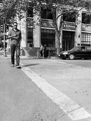 Walk the Line (Tim Roper) Tags: street man crosswalk walking