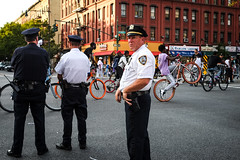 DSCF9076 (john fullard) Tags: 2016 africanamericanday fujixpro1 harlem newyork nyc parade september urban street candid nypd cop cops color colour manhattan bike cyclist