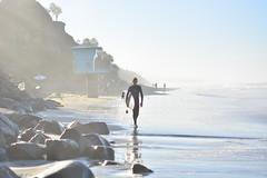 Walk of Journey 1.0 (jerryyflms) Tags: photography surf surfphotography surfboard cardiff sandiego california art minimalism space water movement sun morning sunrise