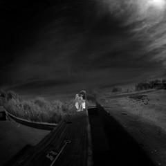 misfit (old&timer) Tags: background infrared blackandwhite filtereffect composite surreal model deviantart aehireielstock song4u oldtimer imagery digitalart laszlolocsei