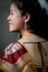 DSCF9405 (tzeyangtan) Tags: deepavali indian traditional red gold details smiles