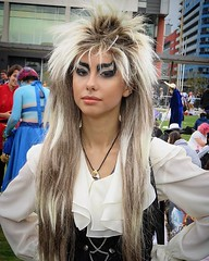 Jareth the Goblin King, MCM Comic Con 2016 (oldrockerward) Tags: androgynous androgyny london2016 mcmcomiccon bowie labyrinth girl outfit costume cosplay goblinking goblin jareth